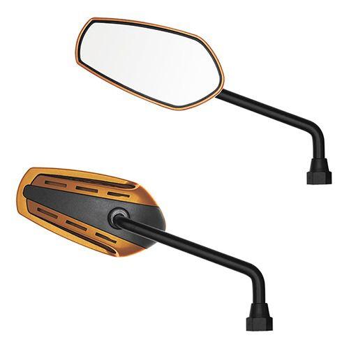 Espelho Retrovisor - Direito e Esquerdo - Honda GTX - Rosca Universal Honda - Lente Plana - Dourado - GVS