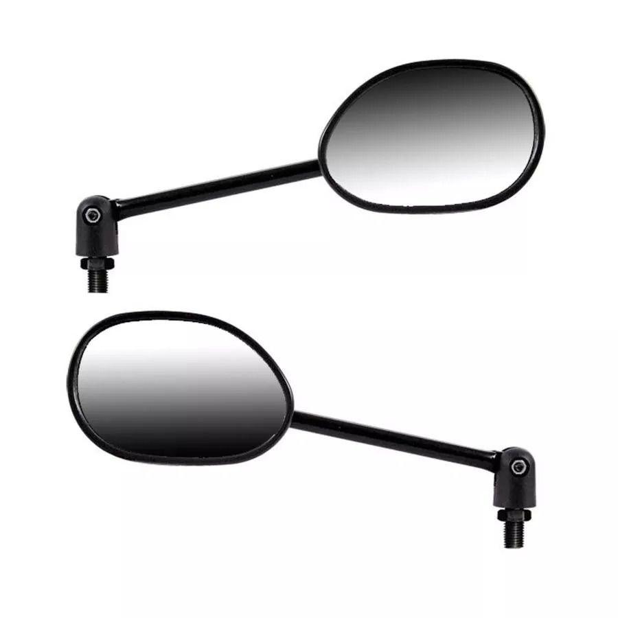 Espelho Retrovisor Mini c/ Articulador - Direito e Esquerdo - Honda Biz 125 Popular Rosca Universal Honda - Lente Plana - GVS