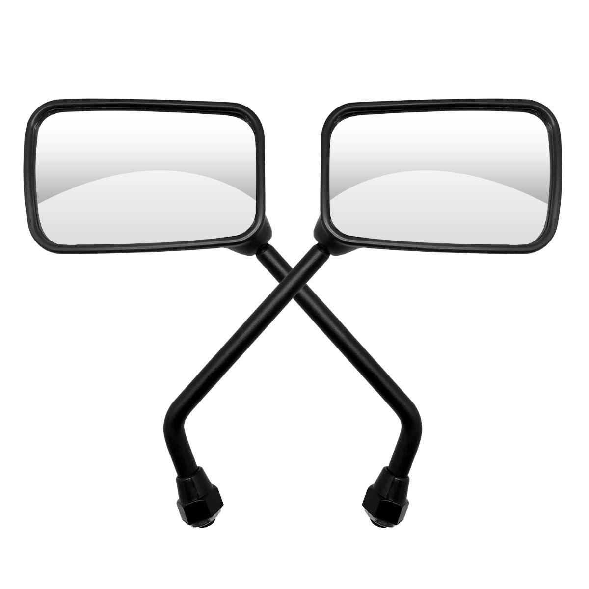 Espelho Retrovisor Mini - Direito e Esquerdo - Honda CBX 250 Twister / CBX 200 Strada - Rosca Universal Honda - Lente Plana - GVS