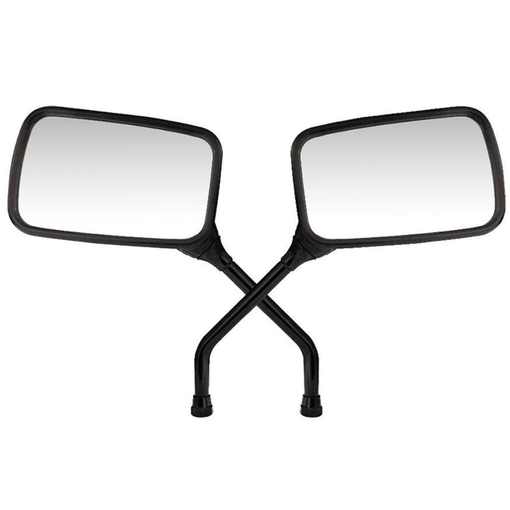 Espelho Retrovisor - Direito e Esquerdo - Honda Strada / Twister - Rosca Universal Honda - Lente Plana - Preto - GVS