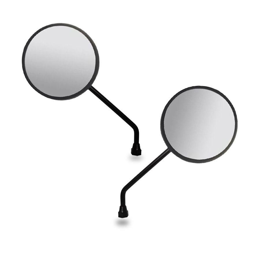 Espelho Retrovisor - Direito e Esquerdo - Honda NXR 125/150 Bros Antiga 2008 - Rosca Universal Honda - Lente Plana - Preto - GVS