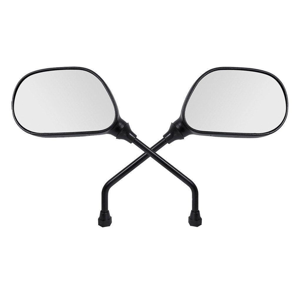 Espelho Retrovisor - Direito e Esquerdo - Padrão Yamaha YBR 125 Factor - Rosca Universal - Lente Plana - Preto - GVS