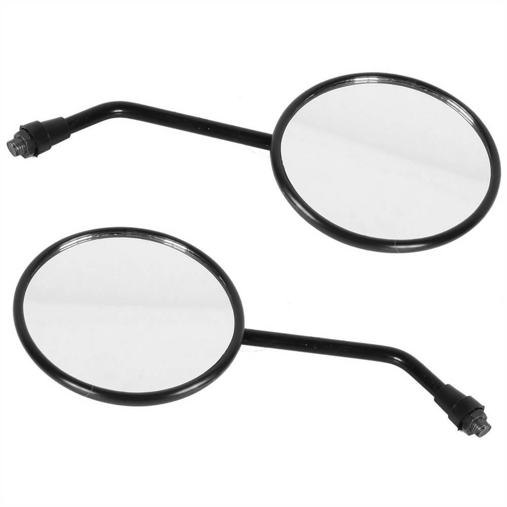 Espelho Retrovisor - Direito e Esquerdo - Padrão Honda XL / XLX - Rosca Universal - Lente Plana - Preto - Pro Tork