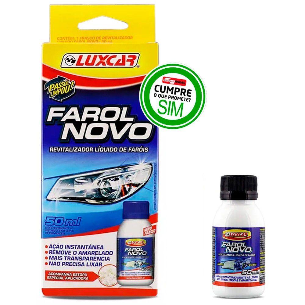 Revitalizador Líquido de Faróis - Farol Novo Automotivo 50ml - Luxcar