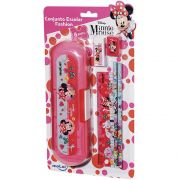 Conjunto Escolar Fashion Minnie Disney 6 itens
