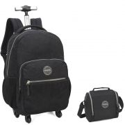 Kit Mochila com Rodinhas 360º Up4you com Lancheira