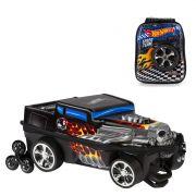 Mochila 3D com Rodinhas e Lancheira Hot Wheels Bone Shaker 2500EM19 Lançamento