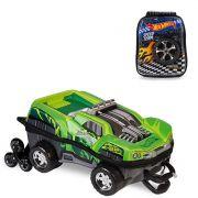 Mochila 3D com Rodinhas e Lancheira Hot Wheels Dawgzilla 2500DM19 Lançamento