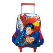 Mochila com Rodinhas Superman Vermelha