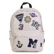 Mochila de Costas Up4You Patches Creme MS45603UP-OR