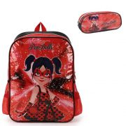 Mochila Escolar de Costas Pop Dolls com Estojo