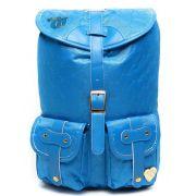 Mochila Feminina Capricho Matelassê Azul 10970