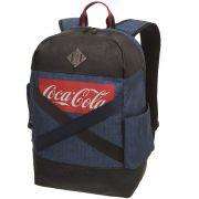 Mochila Feminina Coca Cola Denim Pro Jeans Azul
