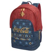 Mochila Feminina Coca Cola Star Jeans Vermelha
