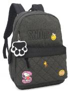 Mochila Feminina para Notebook Snoopy Grafite MJ48508SN