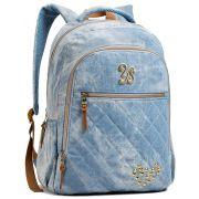 Mochila Feminina Seanite Jeans Azul MJ14024