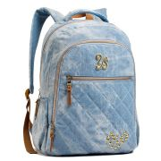 Mochila Feminina Seanite Jeans Azul MJ14024