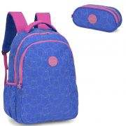 Mochila Feminina Up4you Larissa Manoela com Estojo