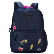 Mochila Feminina Up4you Maisa Jeans Azul Ms45599UP-AZ