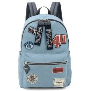 Mochila Feminina Up4you UpRock Jeans Azul MS45607UP-AZ
