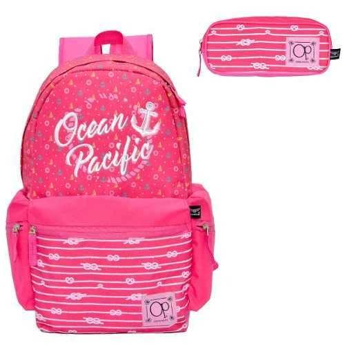 2a8c1553f Mochila Feminina Ocean Pacific Pink OPM182147 Com Estojo - Mix das Mochilas