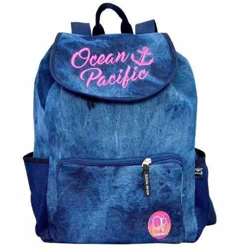 e5df15744 Mochila Feminina Ocean Pacific Azul OPM181902 Com Estojo - MIX DAS MOCHILAS