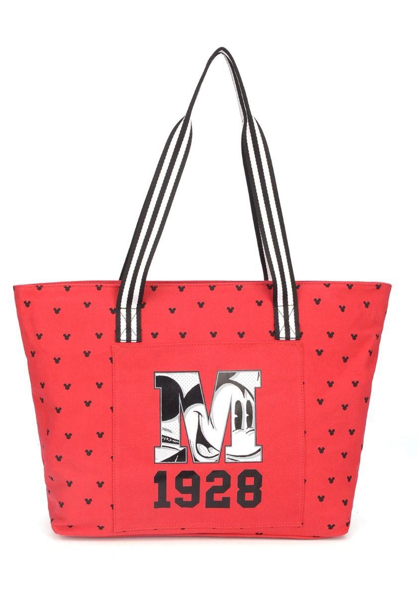 Bolsa Feminina Luxcel Mickey Mouse Tote Vermelha