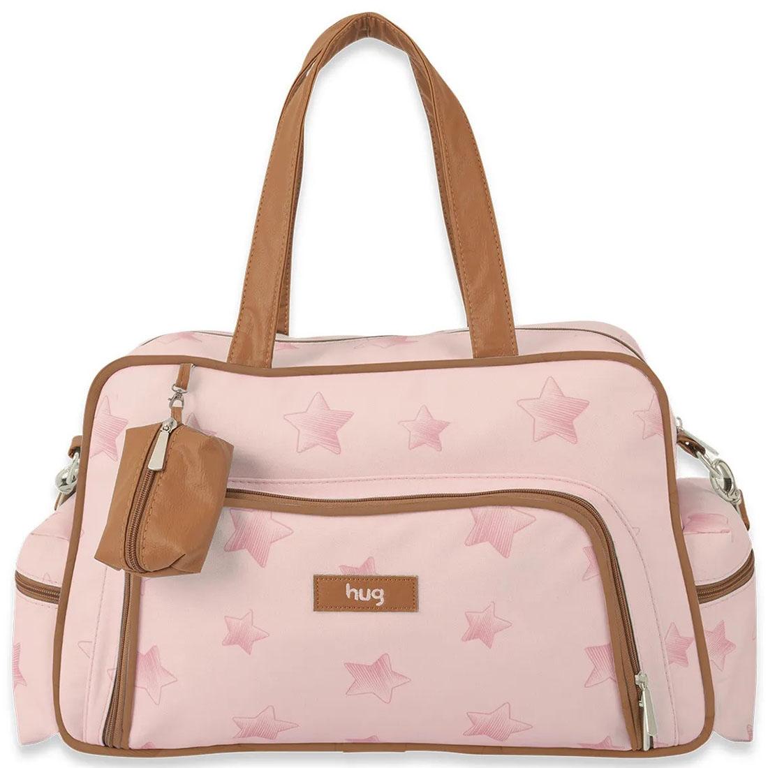 Bolsa Maternidade Hug G Céu Estrelado Com Trocador Rosa