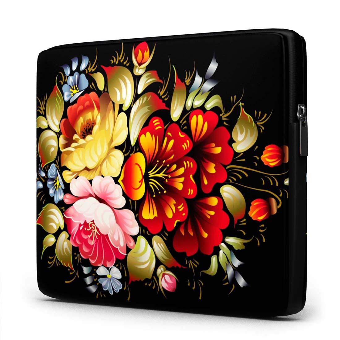 Capa para Notebook Floral 15 Polegadas Com Bolso