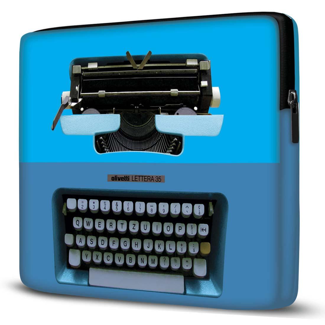 Capa para Notebook Máquina Escrever Azul 15.6 E 17 Polegadas