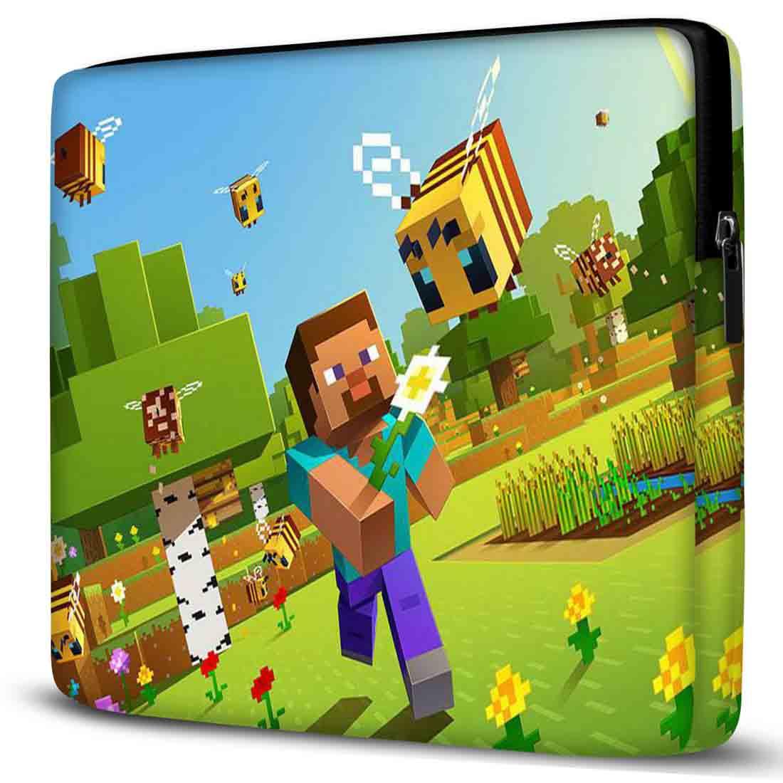 Capa para Notebook Minecraft 15 Polegadas Com Bolso