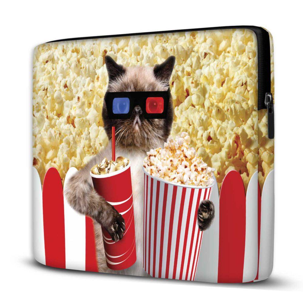 Capa para Notebook Popcorn Cat 15 Polegadas