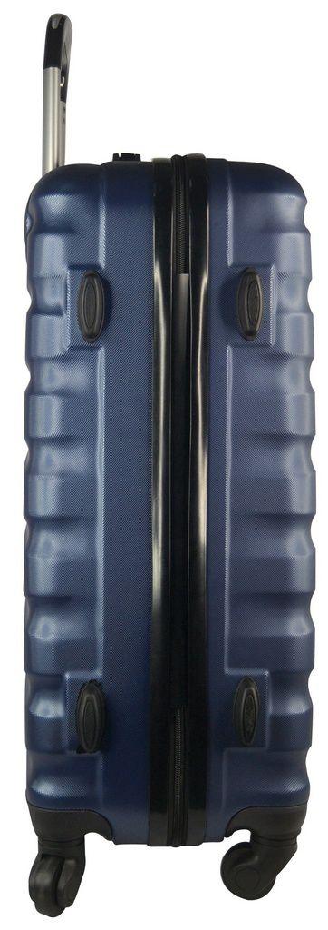 Conjunto de Malas Holly Classic em ABS com 4 rodinhas 360 graus 3 peças Azul