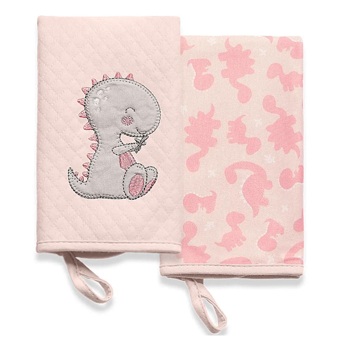 Kit Babinhas Hug Meus Dinos Rosa Com 2 Unidades