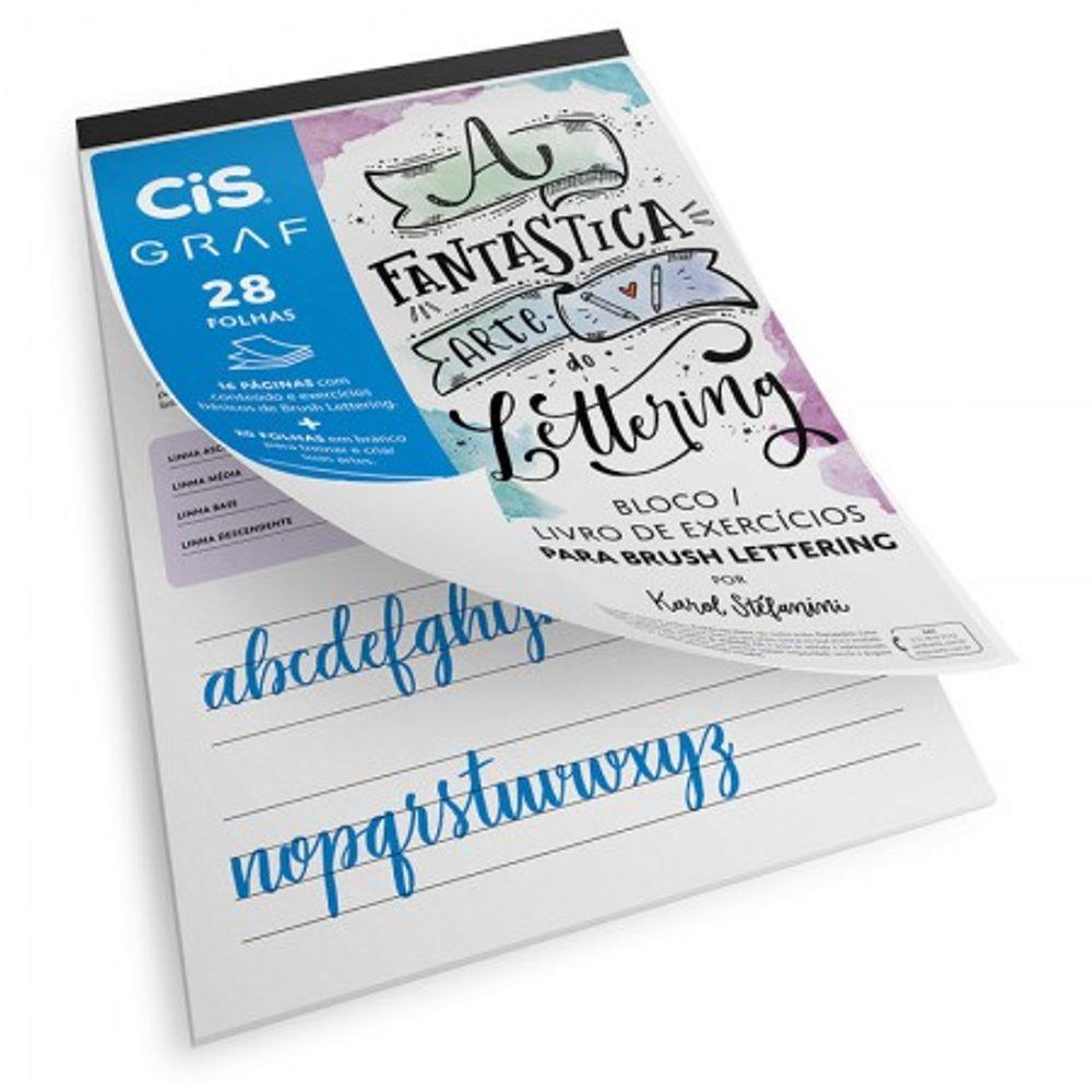 Kit Bloco Brush Lettering A4 Cis Graf