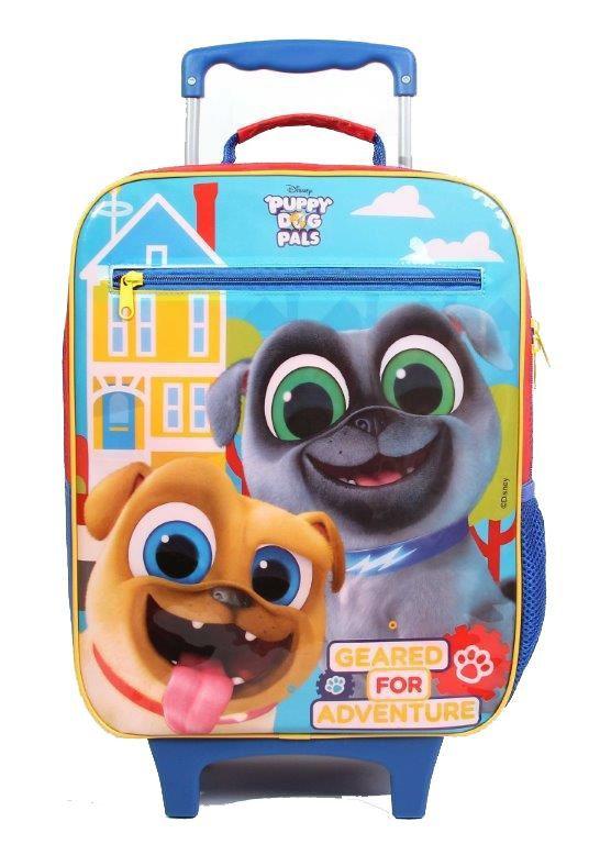 Kit Mochila com Rodinhas Puppy Dog Pals com Lancheira e Estojo
