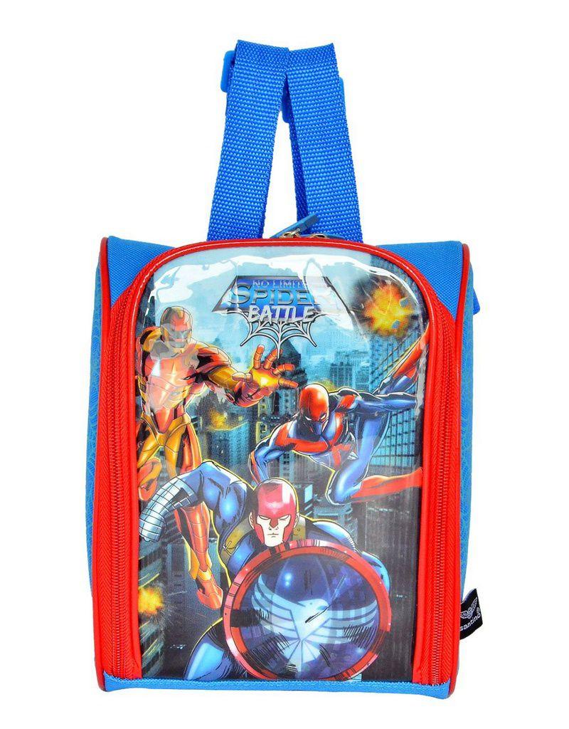 Kit Mochila com Rodinhas Spider Battle com Lancheira e Estojo Azul