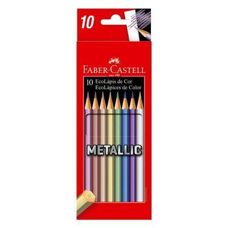 Lápis De Cor Faber Castell Metallic  com 10 Cores