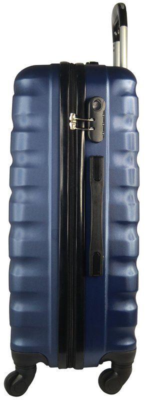 Mala Holly Classic em ABS com 4 rodinhas 360 graus Azul P