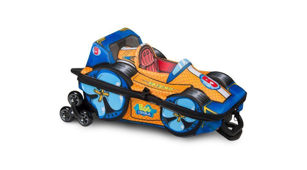 Mochila 3D com Rodas e Lancheira Bob Esponja F1