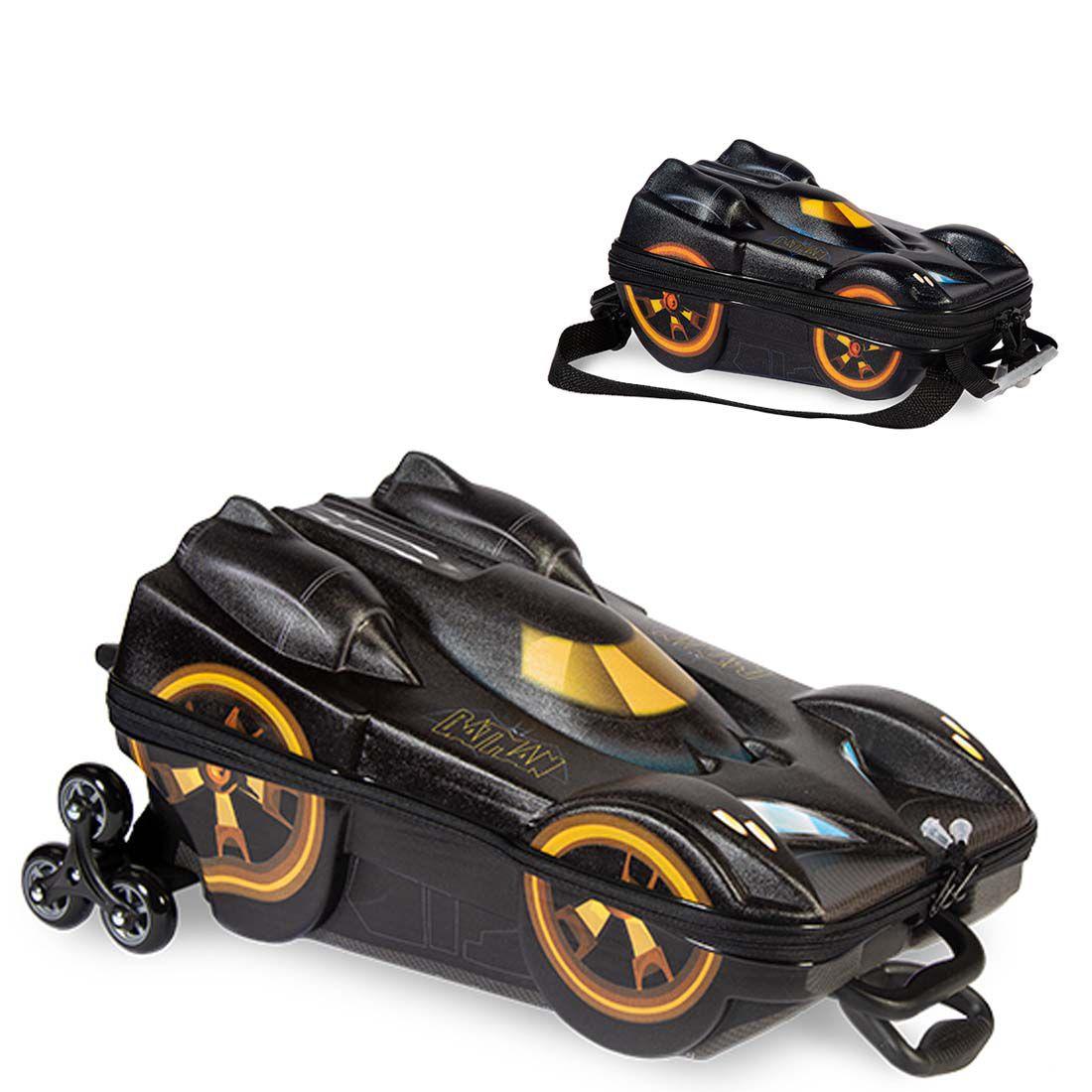 Mochila 3D com Rodinhas e Lancheira Batman Beware  2805AM19