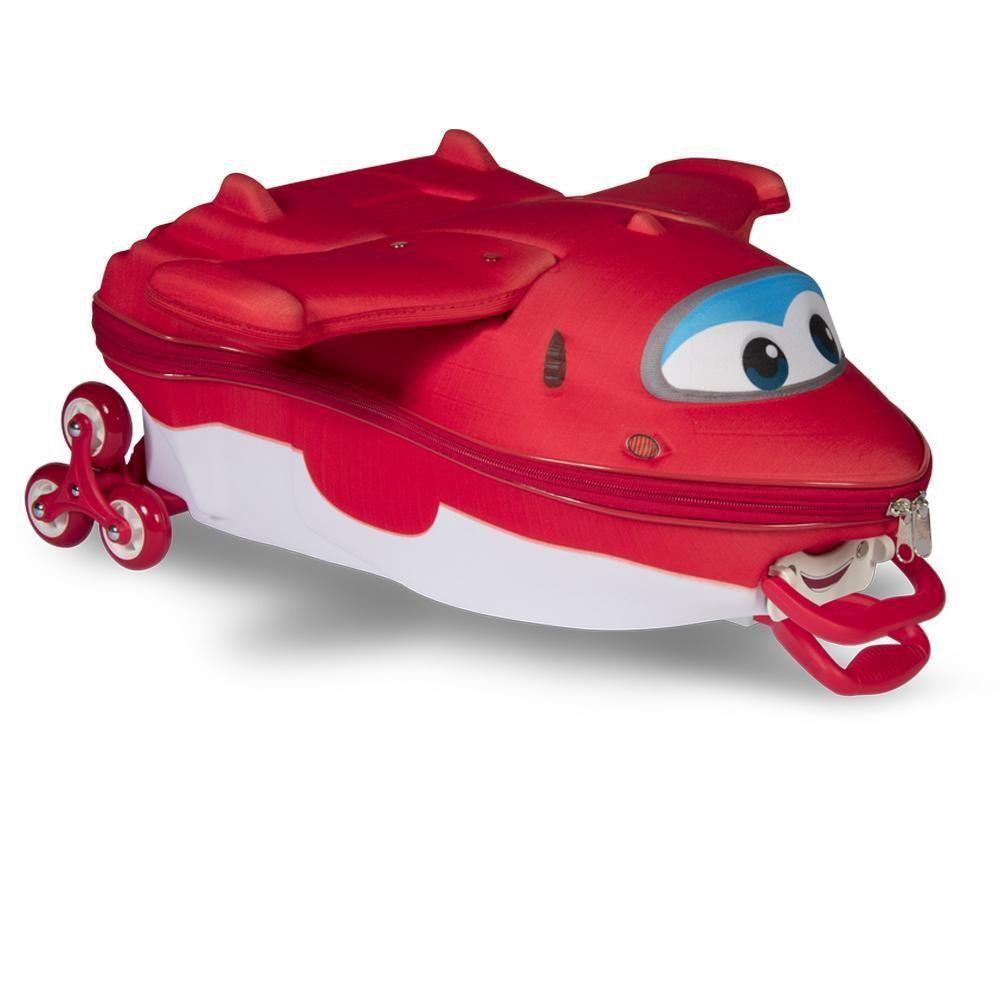Mochila 3D com Rodinhas e Lancheira Super Wings Jett
