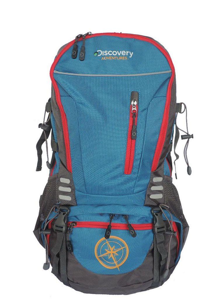 Mochila Camping Discovery Adventures 45L Com Capa