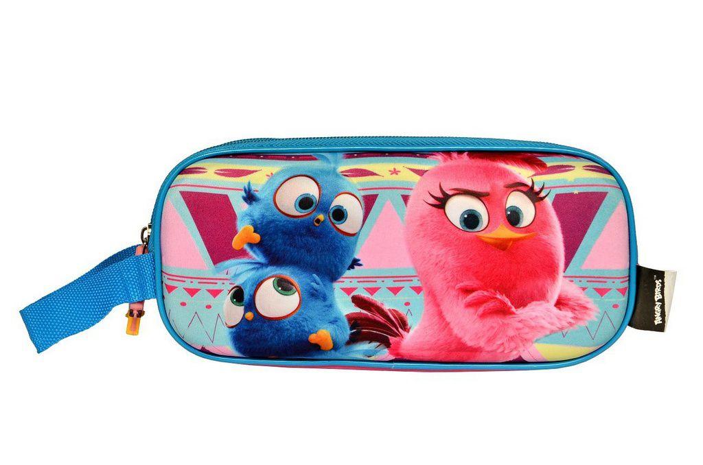 Mochila com Rodinhas Angry Birds com Lancheira e Estojo