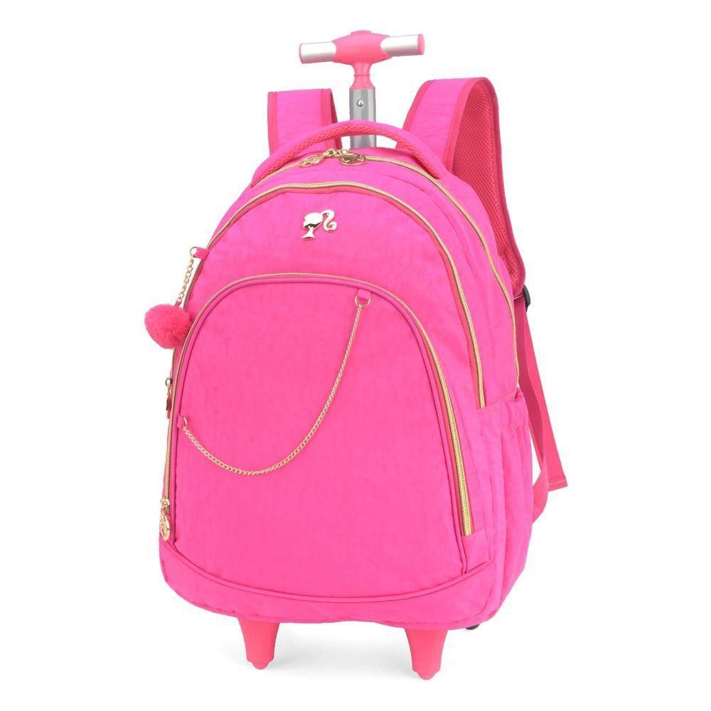 Mochila com Rodinhas Barbie Crinkle para Notebook Rosa MC51230BB-RA