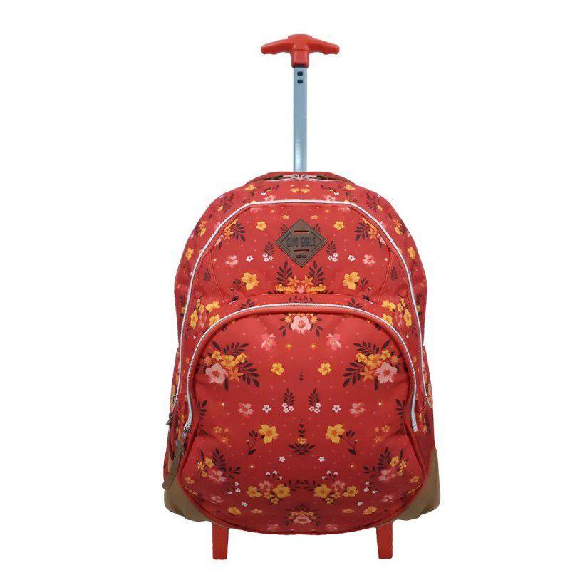 Mochila com rodinhas Clio Para Notebook Vermelha