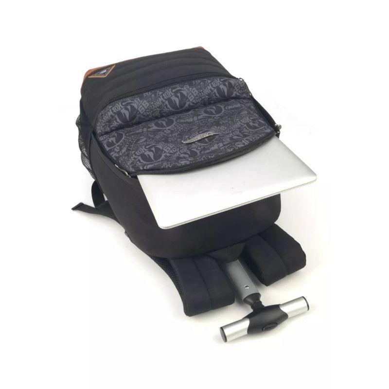 Mochila com Rodinhas Hot Wheels para Notebook com Estojo