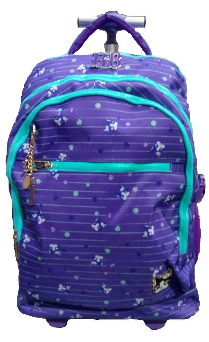 Mochila com rodinhas Rebecca Bonbon Para Notebook Azul
