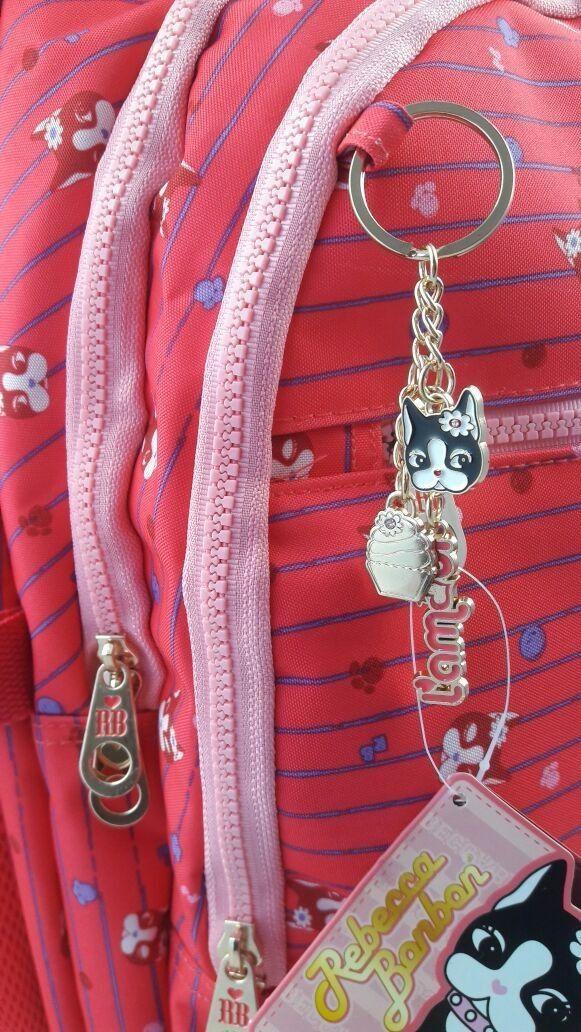 Mochila com rodinhas Rebecca Bonbon Para Notebook Rosa