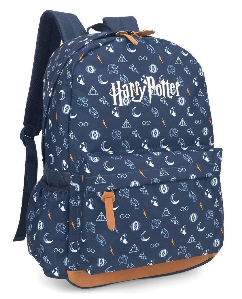 Mochila de Costas Harry Potter Azul